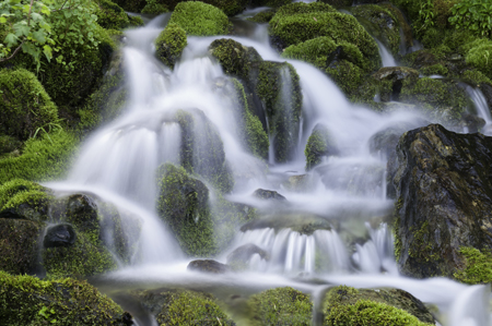 Waterfall on Papoose Creek lies along side Seven Devils Road leading to Heavens Gate Lookout.